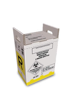 cardboard container for hazardous medical waste from 20 liters