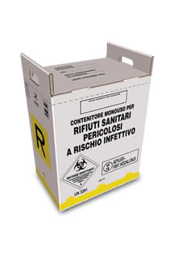 cardboard container for hazardous medical waste from 40 liters