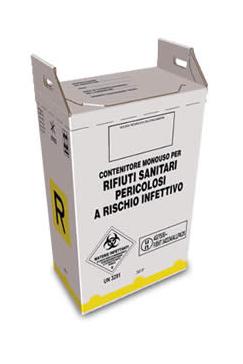 contenitore per rifiuti sanitari pericolosi in cartone 20 litri